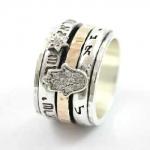 Серебряное кольцо Deno с золотом SNR4812GCZ