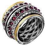 Серебряное кольцо Deno с золотом SNR1988GGR