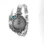 Серебряные часы Deno с бирюзой 01W623TQ