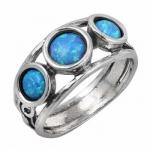 Серебряное кольцо Deno с опалом 01R866OP