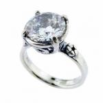 Кольцо из серебра с кубическим цирконием 01R636CZ