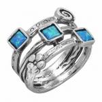 Кольцо из серебра с опалом 01R610OP