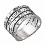 Кольцо из серебра Deno 01R454
