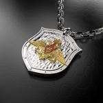 Серебряный амулет Министерство Обороны РОССИИ (серебро 925 пробы)