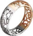 Ажурное кольцо из комбинированного золота 01К068413