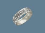 Церковное кольцо из серебра «Господи, спаси и сохрани» Н5О75СК003