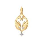 Золотой кулон «Знак зодиака Рыбы» 034817