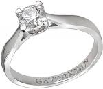 Эксклюзивное помолвочное кольцо из золота с бриллиантами 01К678811