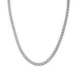 """Цепь мужская серебряная, плетение """"Бисмарк"""", ширина 4,5 мм H0000000001"""
