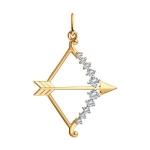 Золотая подвеска «Знак зодиака Стрелец» 035131