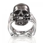 Кольцо из серебра Альдзена ВЕЧНОСТЬ/черный К-26002