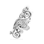 Серебряное кольцо Узор Утум K020