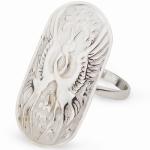 Серебряное кольцо Узор Утум K022