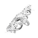 Серебряное кольцо Узор Утум K105