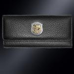 Кожаная ключница ВДВ РОССИИ (эмблема серебро 925 пробы)