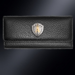 Кожаная ключница ЦСН АЛЬФА (эмблема серебро 925 пробы)
