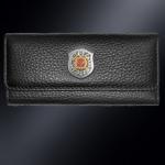 Кожаная ключница МВД РОССИИ (эмблема серебро 925 пробы)