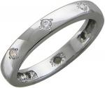 Классическое кольцо из серебра с фианитами У15К151794
