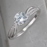 Кольцо дорожка из серебра с фианитами Л8К1519410
