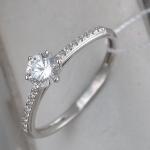 Кольцо дорожка из серебра с фианитами Н11К152825