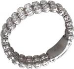 Кольцо дорожка из серебра с фианитами Сваровски Т20К151421