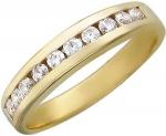 Кольцо дорожка из желтого золота с фианитами 01К131233