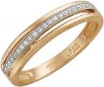 Кольцо дорожка из золота с бриллиантами 01К616897