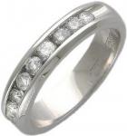 Кольцо дорожка из золота с бриллиантами 01К625264