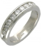 Кольцо дорожка из золота с бриллиантами 01К625266