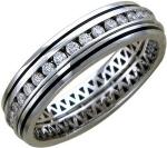 Кольцо дорожка из золота с бриллиантами и эмалью 01О670200ЭL