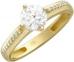 Кольцо дорожка из золота с фианитами 01К136358