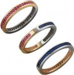 Кольцо дорожка из золота с рубинами и шпинелем 01К268428