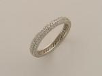 Кольцо из белого золота с бриллиантами 01К673188