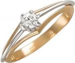 Кольцо из комбинированного золота с фианитами 01К165751