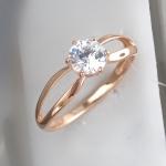 Кольцо из позолоченного серебра с фианитами Л8К1519393П