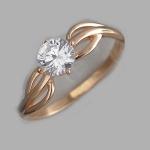 Кольцо из позолоченного серебра с фианитами Л8К1519394П