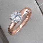 Кольцо из позолоченного серебра с фианитами Л8К1519395П