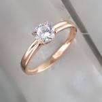 Кольцо из позолоченного серебра с фианитами Л8К1519397П