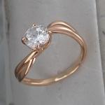 Кольцо из позолоченного серебра с фианитами Л8К1519398П