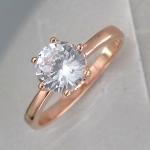 Кольцо из позолоченного серебра с фианитами Р3К1501536П