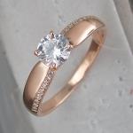 Кольцо из позолоченного серебра с фианитовой дорожкой Л8К1519413П