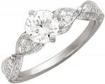Кольцо из серебра с фианитами 01К156257