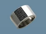Кольцо из серебра с фианитами Л4К25А1399