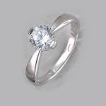 Кольцо из серебра с фианитами Р3К1501489