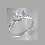Кольцо из серебра с фианитами Сваровски Р3К15010014