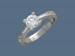 Кольцо из серебра с фианитами У15К150128