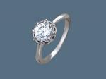 Кольцо из серебра с фианитами У15К150462-1