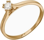 Кольцо из золота с бриллиантами 01К616782