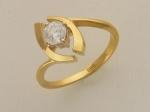 Кольцо из золота с бриллиантами 01К683036