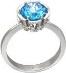 Кольцо из золота с бриллиантами и топазами 01К676742
